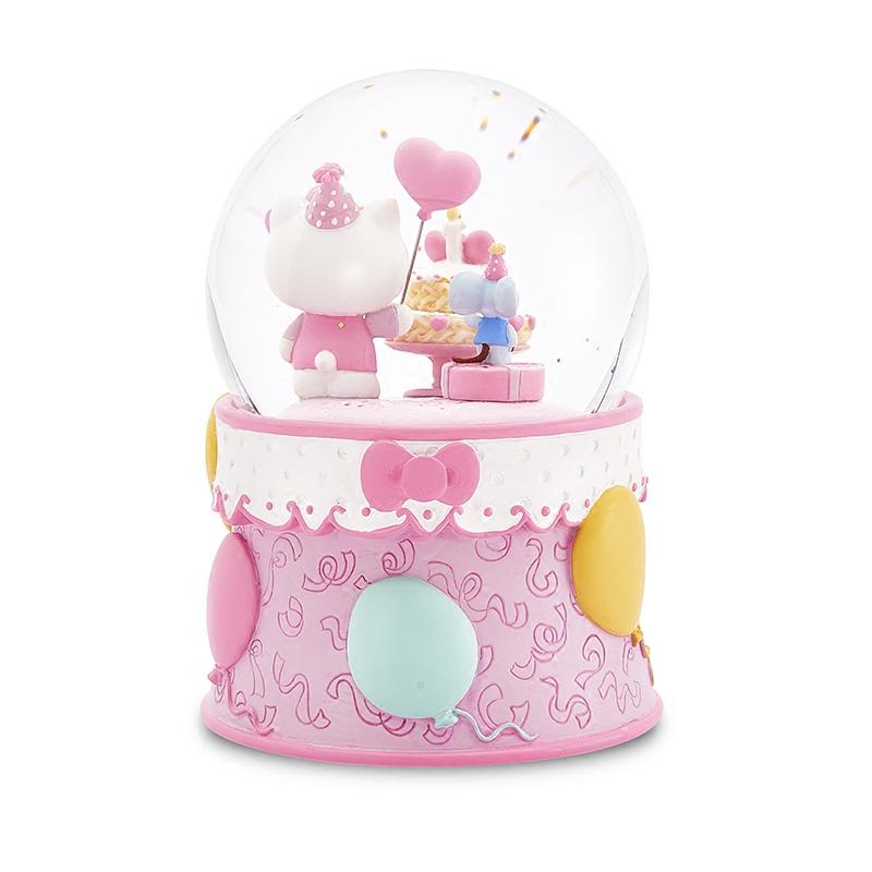 生日快乐水晶球女生儿童音乐盒八音盒生日礼物雪花旋转 JARLLkitty