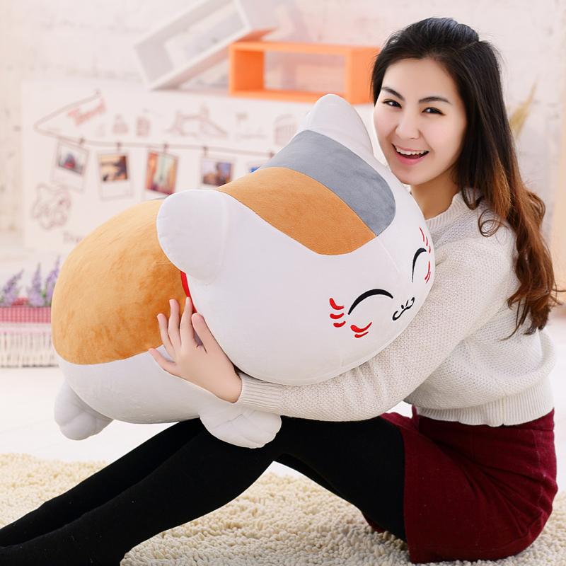 娘口三三夏目友人帐猫咪老师公仔毛绒玩具可爱娃娃玩偶睡觉抱枕女