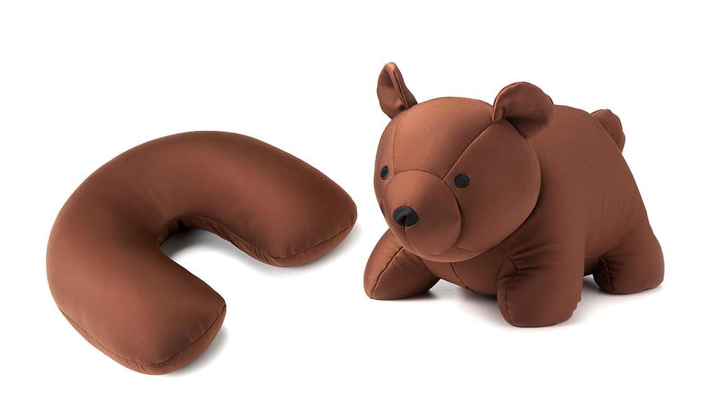美國KIKKERLAND 小熊變形枕頭 u型枕頭 頸枕飛機靠枕旅行神器