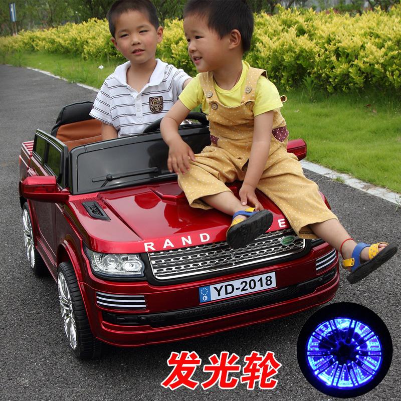 蚁道儿童电动车四轮双座双驱动大号越野玩具可坐双人遥控汽车