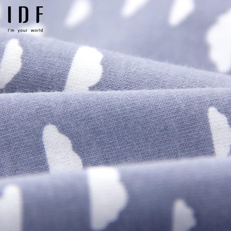 4条IDF内裤女纯棉裆100%全棉中腰少女式底裤可爱棉质女生三角裤头