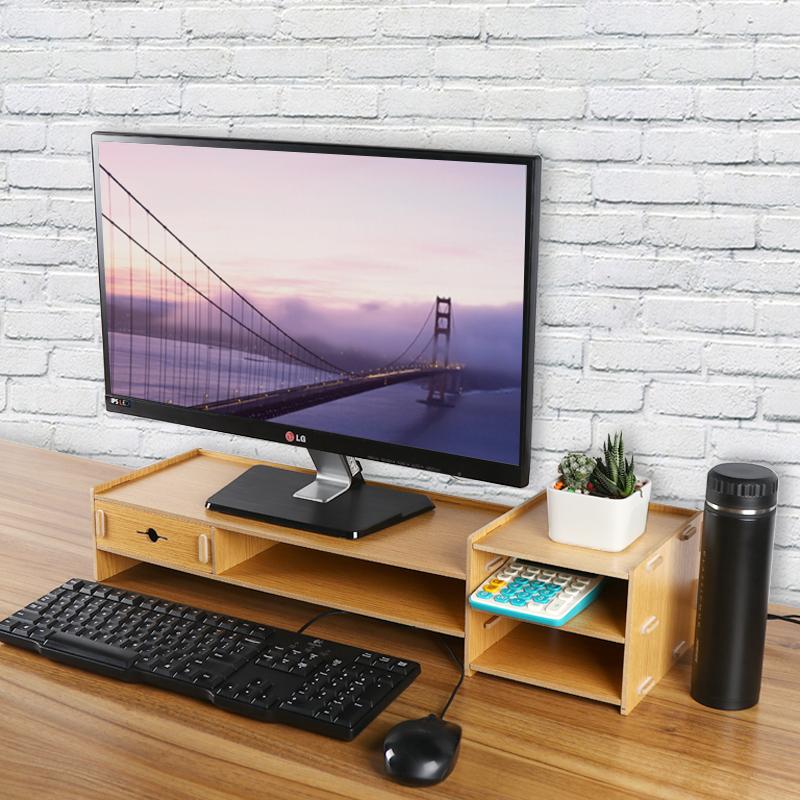 酷奇 電腦顯示器增高支架鋁合金抬高托架筆記本金屬鍵盤桌面收納底座IMAC顯示屏蘋果一體機辦公室桌上型電腦墊高