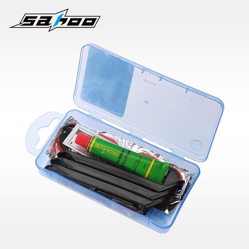 SAHOO山地車內胎補胎膠片膠水套裝自行車修補貼單車修補工具配件