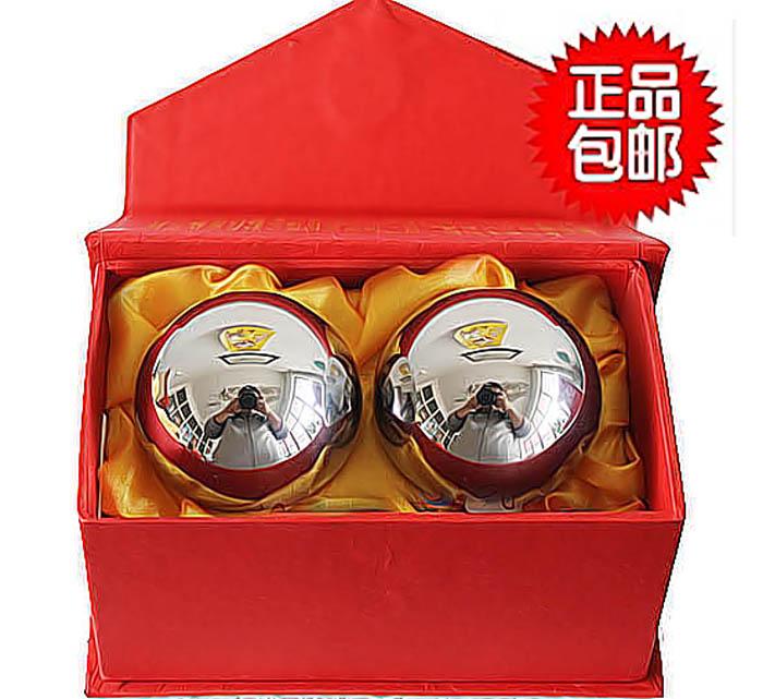 正品空心鈴音保定健身球手球實心電鍍球中老年鐵球健康禮品保健球