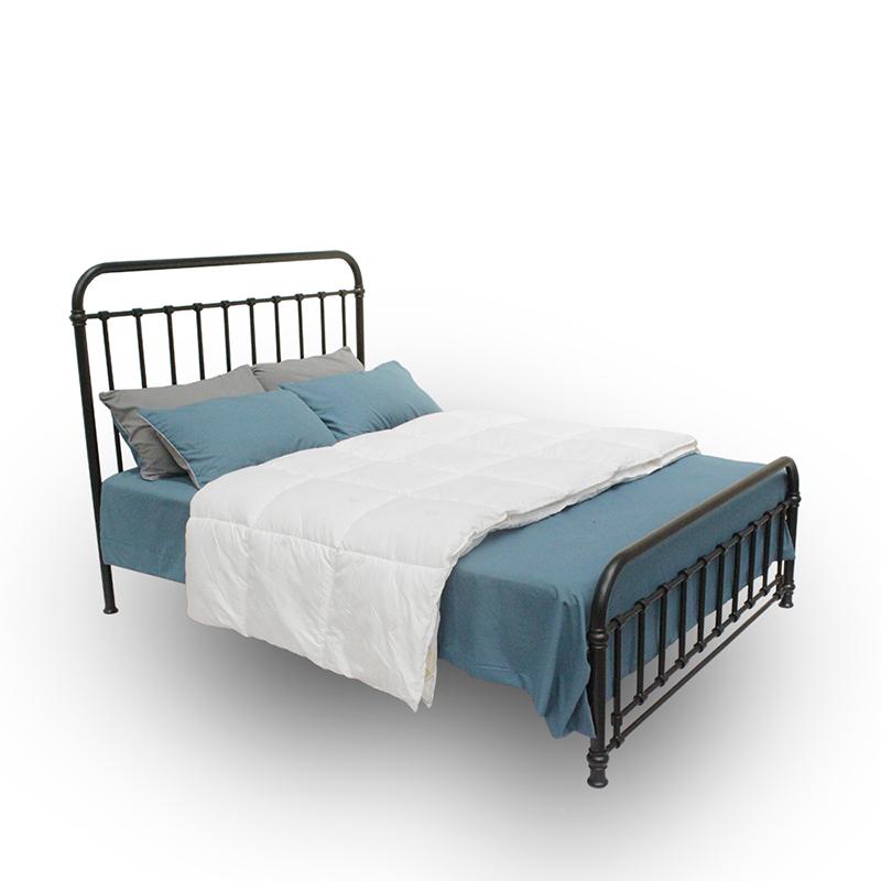 ins网红铁艺床北欧北欧风格铁床 1.5米复式二楼床简约双人铁架床