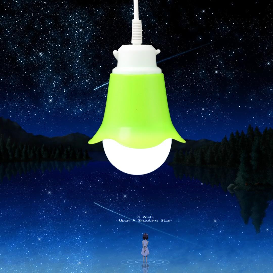 心飛翔 usb燈led節能燈野營強光移動電源充電寶5v燈泡5w USB夜燈