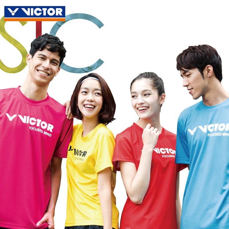 正品VICTOR勝利羽毛球服男女款速幹圓領夏短袖T恤6027球衣運動服