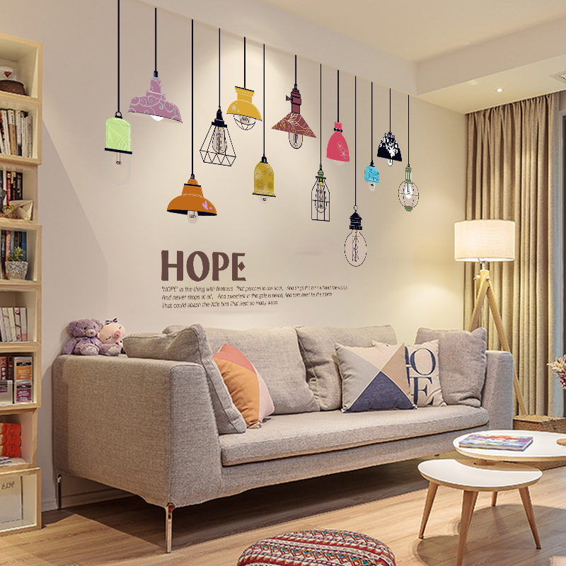创意个性墙贴纸客厅卧室温馨电视墙壁墙纸自粘背景墙面装饰自贴画