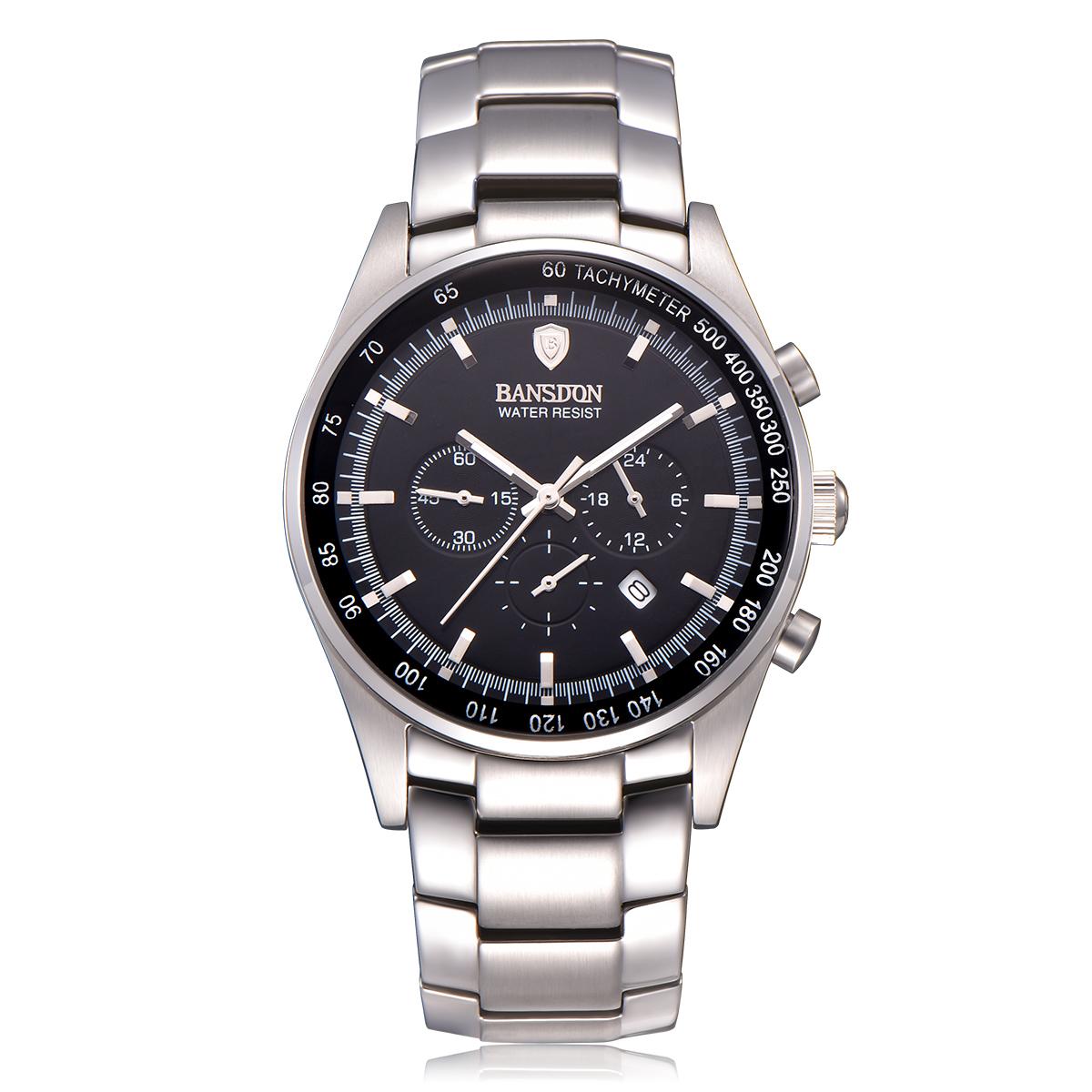 手表男士多功能手表时尚防水石英男表休闲商务男式腕表
