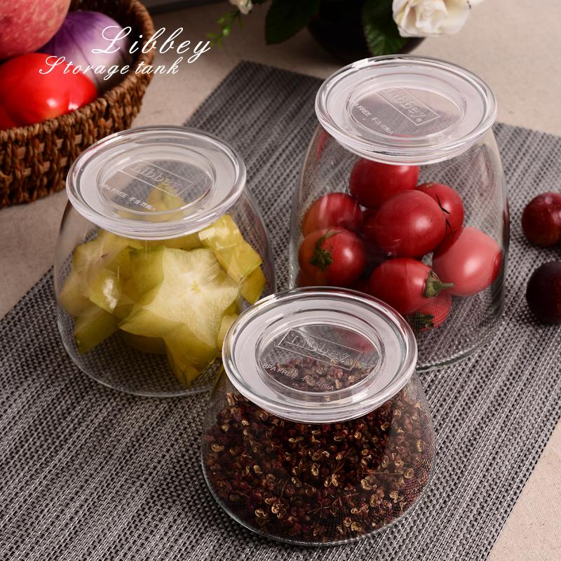 美式儲物罐無鉛玻璃密封罐糖果乾果花茶葉玻璃瓶奶粉收納玻璃罐