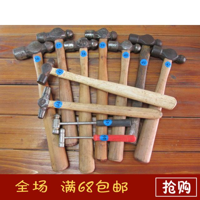 日本进口二手 木柄圆头锤 安装锤 木工锤 锤子 榔头
