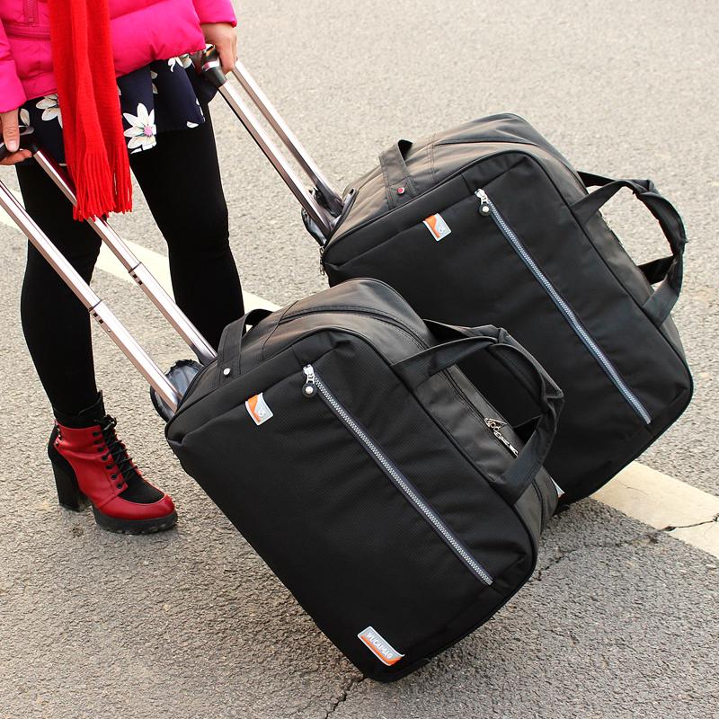 拉桿包旅遊女手提旅行袋男大容量行李包登機箱包可摺疊防水旅行包