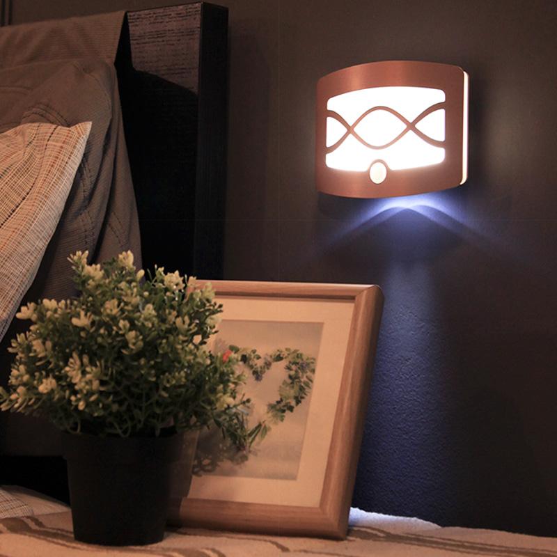 智能无线人体感应灯家用充电池led小夜灯声控走廊过道楼道卧室灯