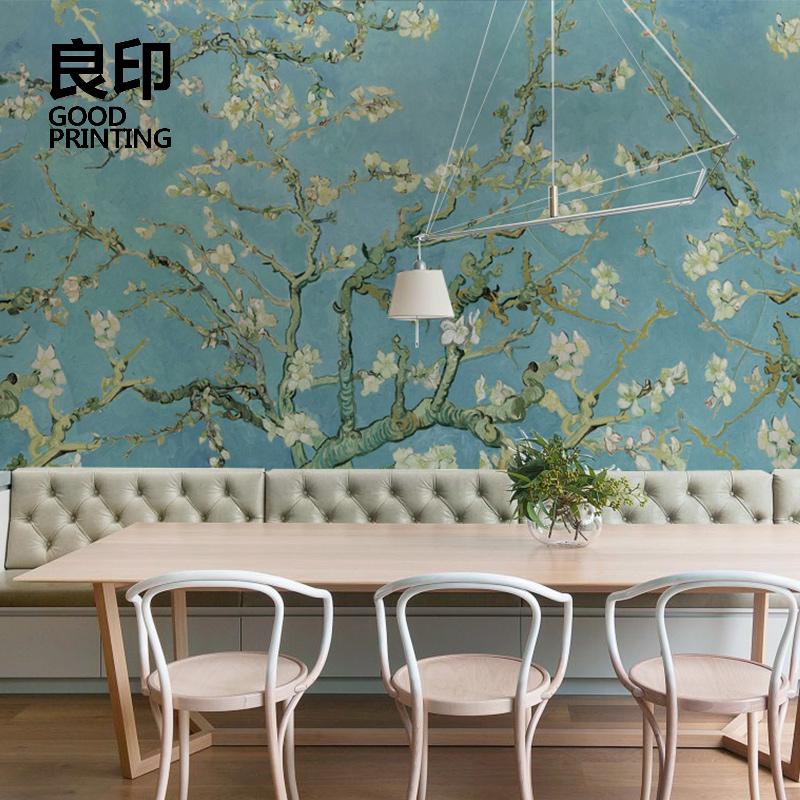良印美式复古电视背景墙纸个性婚房艺术壁纸创意定制壁画欧式墙布