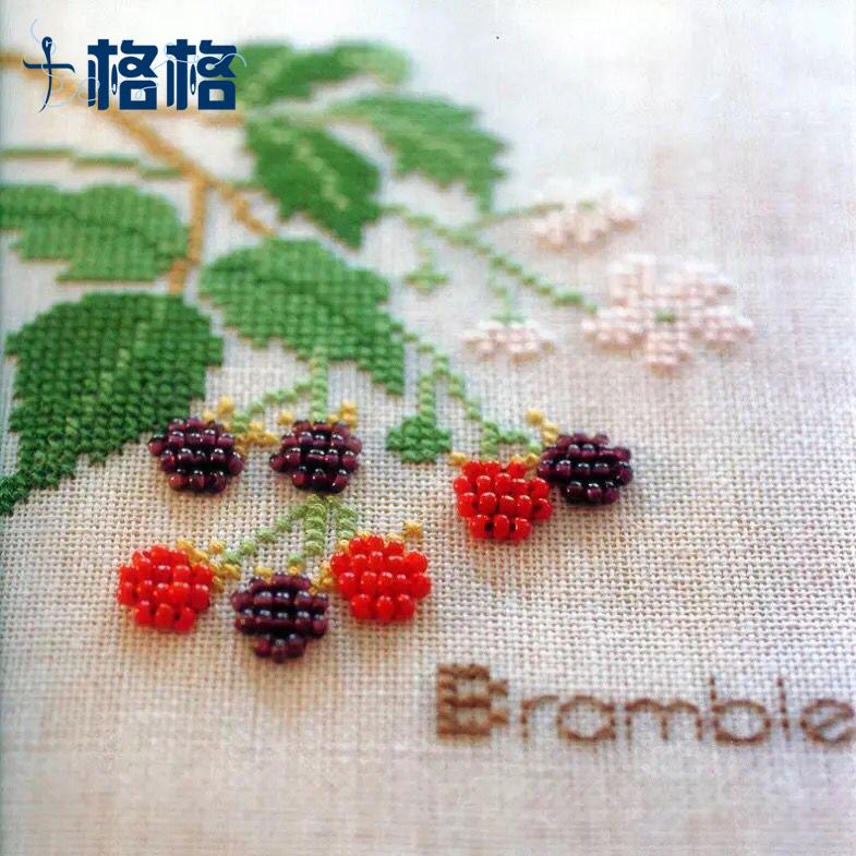 法國手工DMC十字繡 新人簡單小幅 精準印花 草莓物語 MGB繡珠
