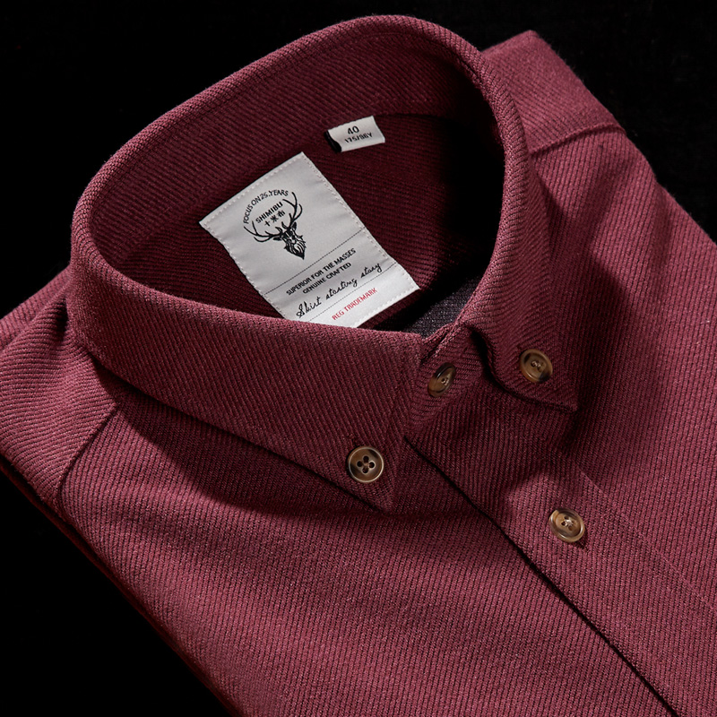 十米布秋冬男士加厚保暖衬衫长袖修身商务免烫时尚拼接灯芯绒衬衣