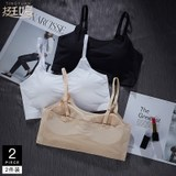 Small sling tube top wrapped chest female ice silk seamless short vest without steel ring underwear female student high school girl summer