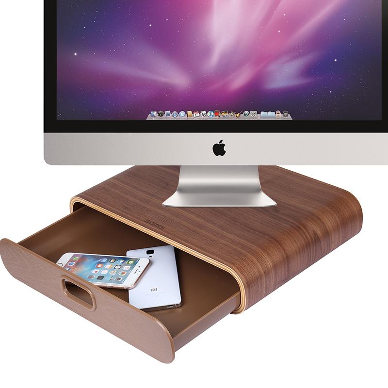 imac一體機支架 桌面底座 膝上型電腦顯示器屏27站立增高墊高架子