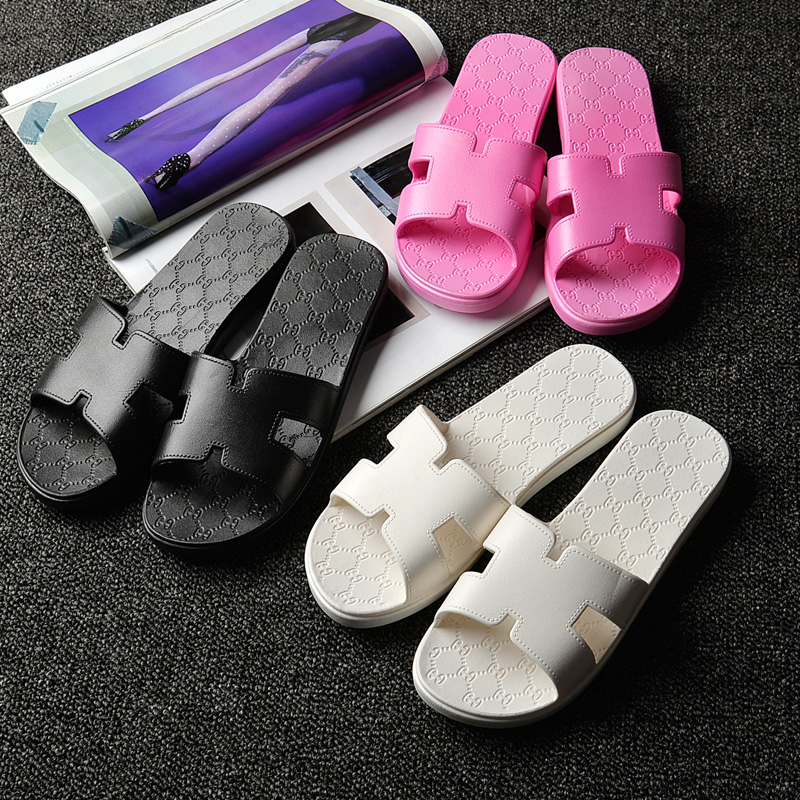浴室拖鞋夏季居家男女賓館情侶拖鞋室內防滑洗澡居厚底塑料涼拖鞋