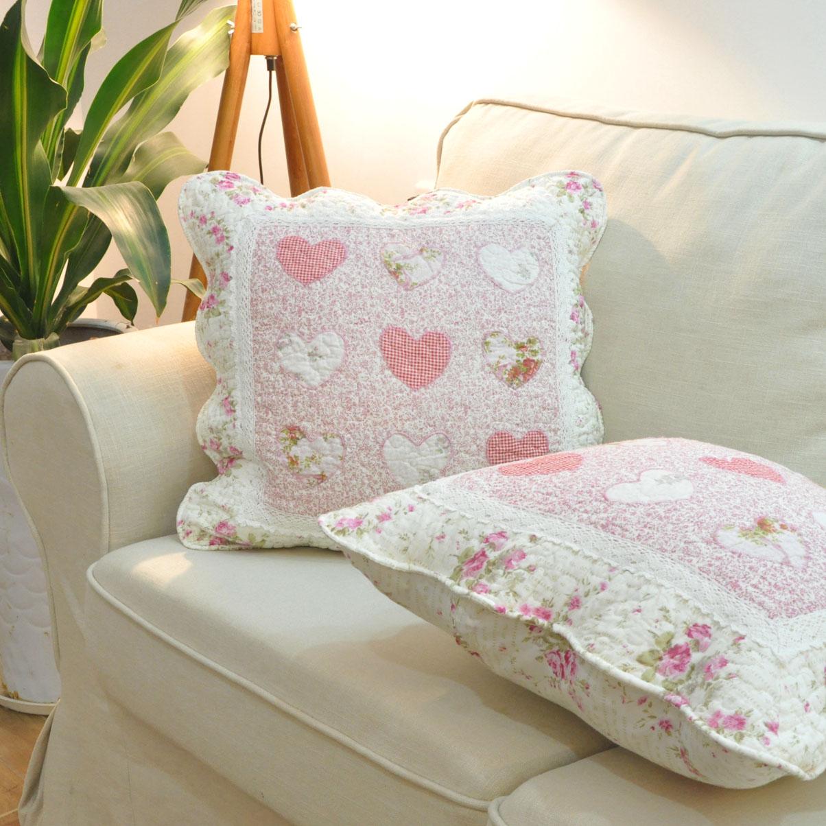 田園絎縫全棉拼布布藝 腰枕辦公室沙發靠墊套汽車靠背抱枕多款式