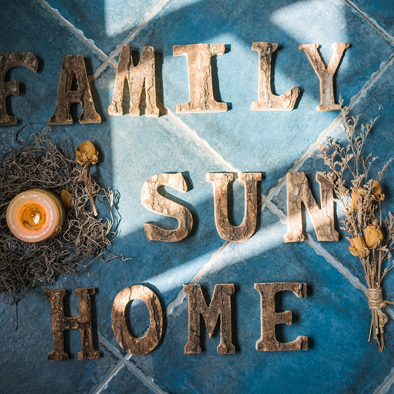 【掬涵】天然原木裝飾字母 白樺木樹皮擺件牆飾 道具DIY北歐ZAKKA
