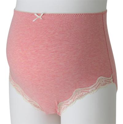 日本犬印產前全棉內褲孕婦蕾絲 高腰透氣彈力託腹短褲收腹三角褲