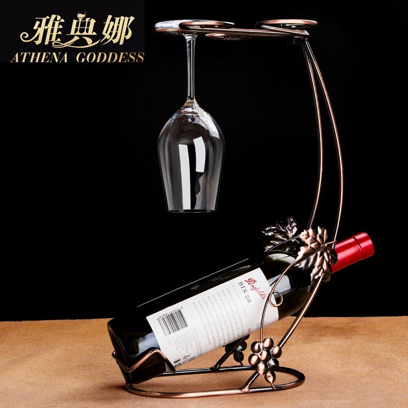 雅典娜】创意红酒杯架&红酒架/葡萄酒高脚杯架/欧式家居摆件