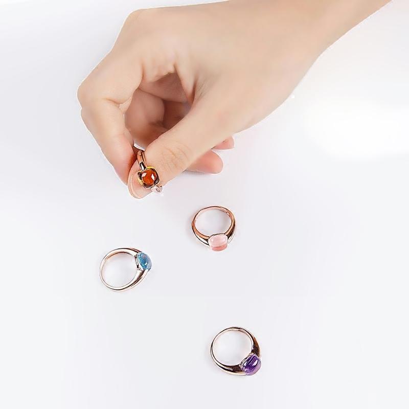 粉晶魔法护身符戒指终身适用 巨蟹 天蝎 适于双鱼 抵抗水逆