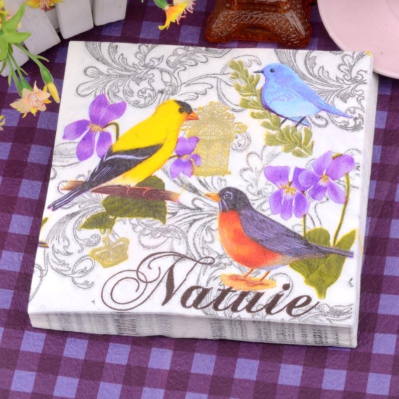 [淘寶網] 花鳥圖案印花餐巾紙20片面巾紙 卡通圖案紙餐廳咖啡廳酒吧用紙