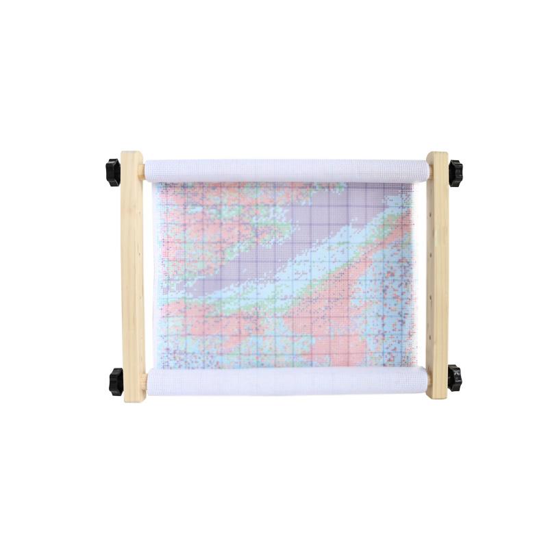 十字绣工具十实木质可调35厘米手持绣框十字绣架子支架绣绷绷子