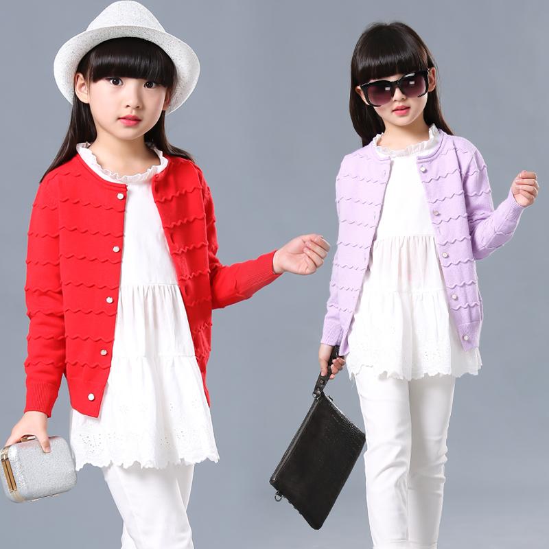 童装女童针织衫儿童空调衫夏宝宝开衫薄款防晒衣2016新款毛衣外套