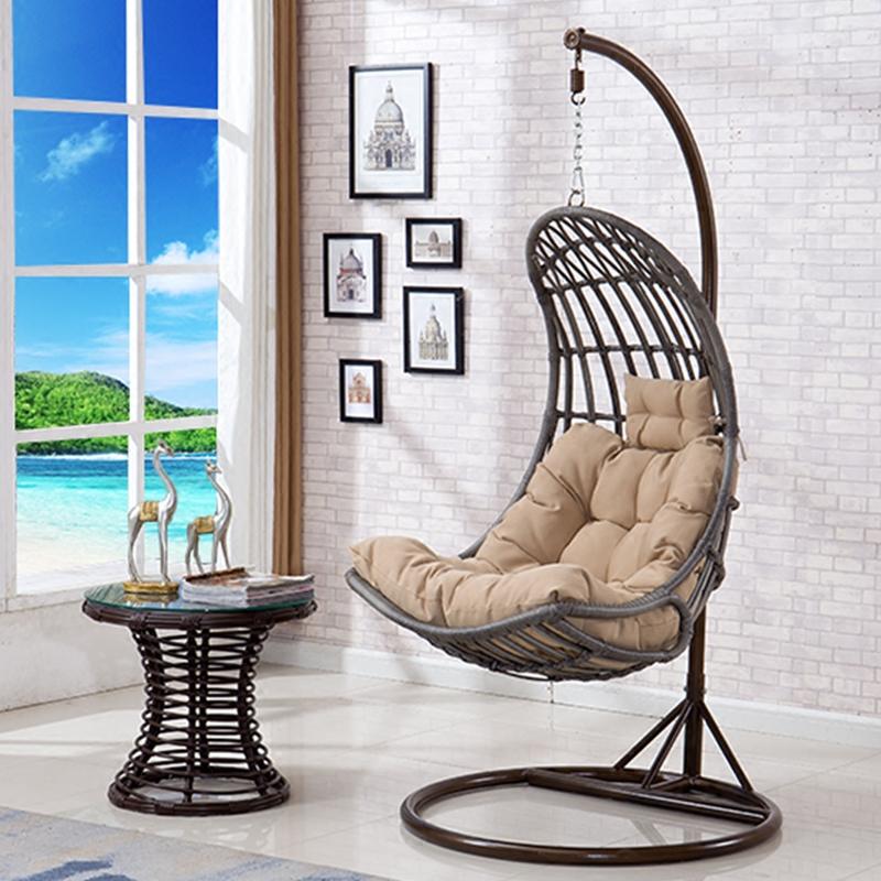 休闲摇椅秋千吊椅 吊篮单人小卧室藤椅成人 室内公主阳台欧式特价
