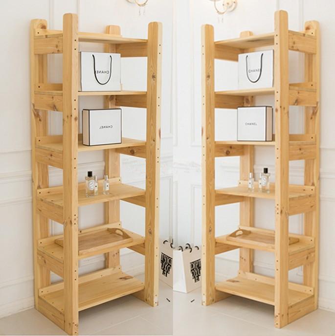 簡易實木置物架儲物架書架木架子層架木質多層廚房客廳置物架鞋架