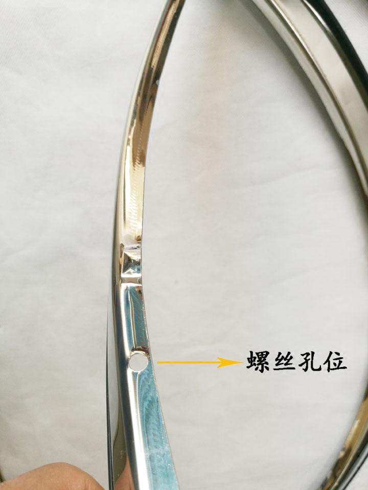 比亚迪F0/G6/F6/F3/G3/L3/速锐专用汽车轮眉 不锈钢轮弧装饰亮条