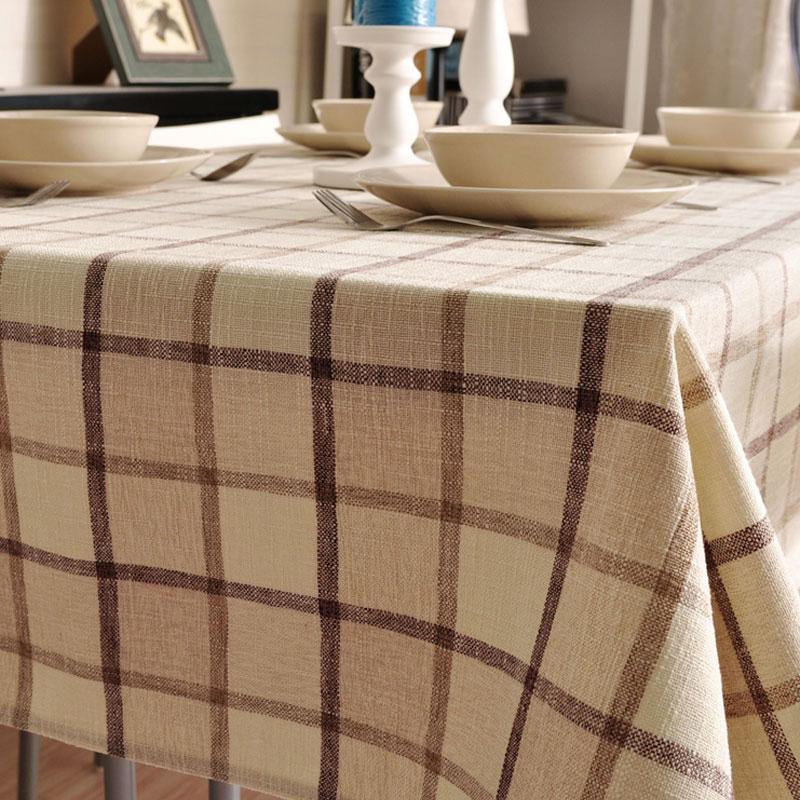 經典加厚歐式格子桌布布藝餐廳餐桌布長方形現代簡約檯布茶几蓋巾