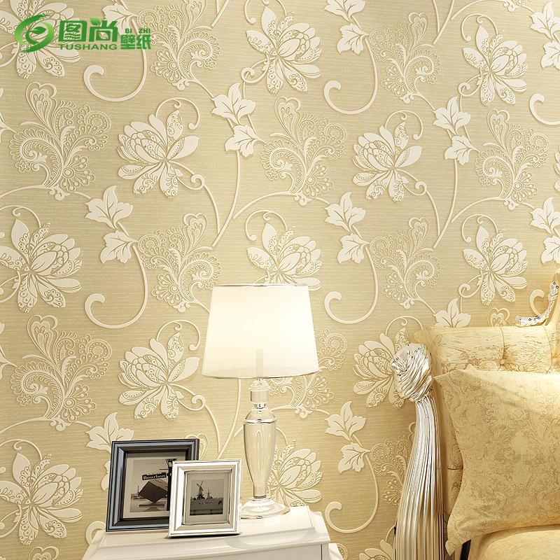 墙纸卧室客厅电视背景墙包安装 3D 图尚欧式壁纸无纺布水洗加厚立体