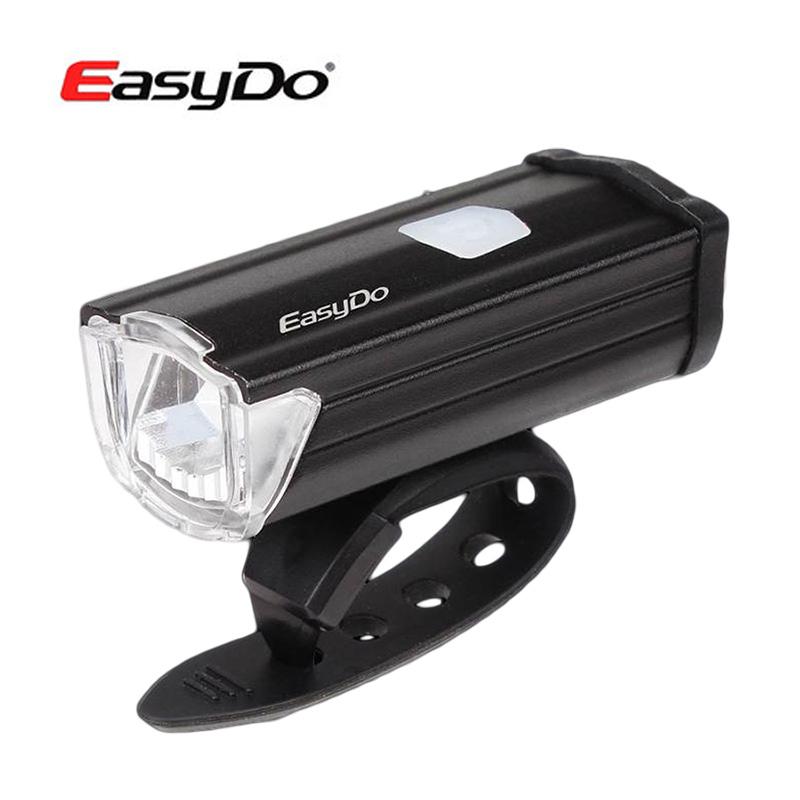 Easydo自行車燈 流星USB充電車前燈200流明高亮前燈夜騎強光