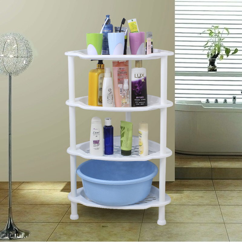 浴室置物架卫生间脸盆架洗手间厕所塑料储物收纳层架三角落地架子