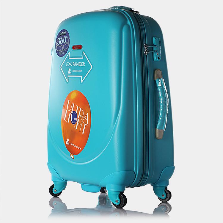特價包郵Ambassador大使拉桿箱萬向輪ABS+PC彩色旅行箱女士行李箱
