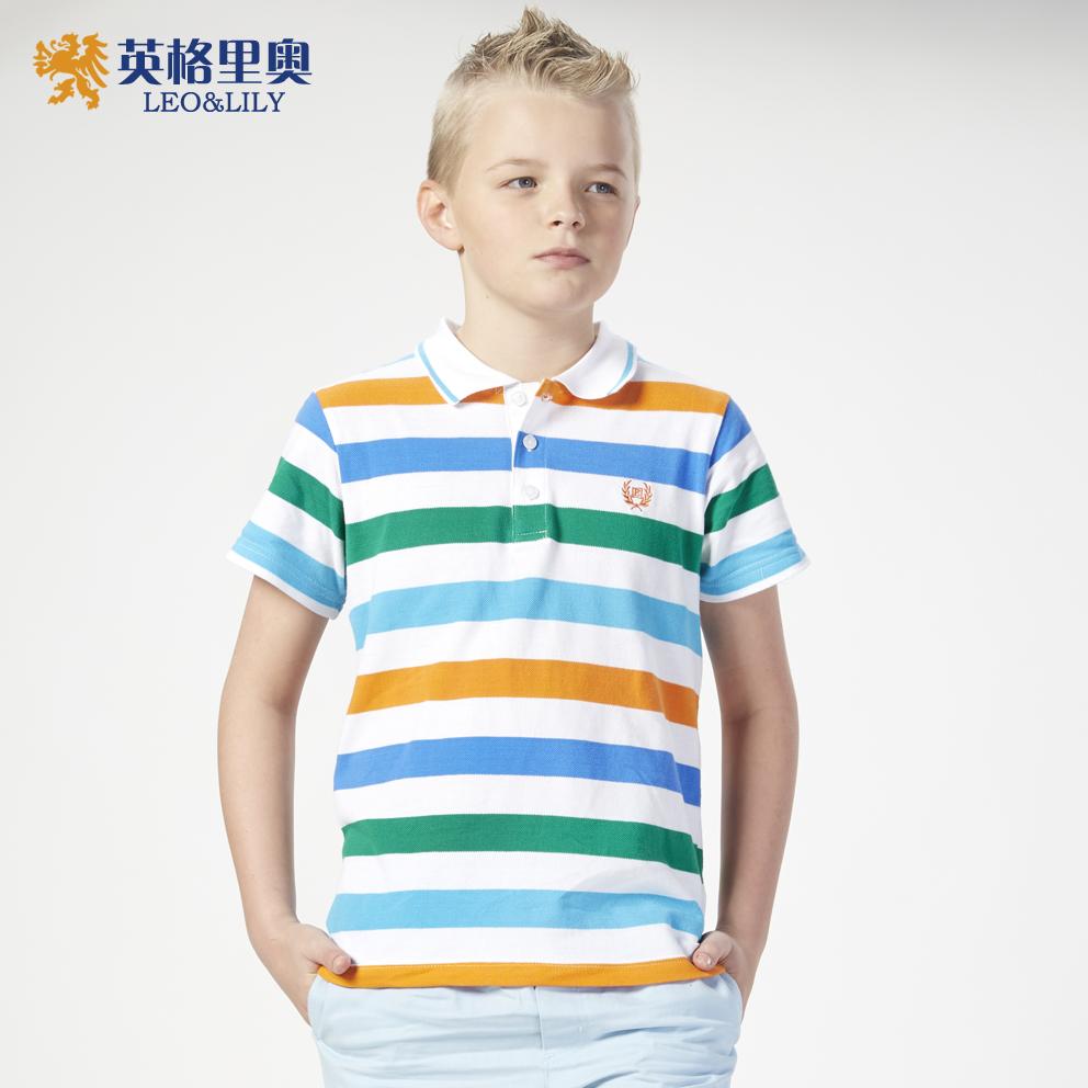 夏裝新款男童純棉短袖t恤兒童寶寶休閒條紋上衣中大童休閒POLO衫