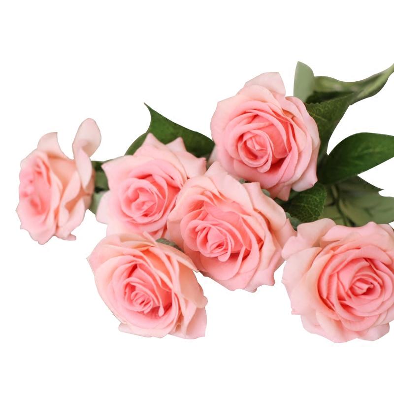 太像真花了!卡洛琳手感保湿玫瑰仿真花束客厅装饰摆件设干假花艺