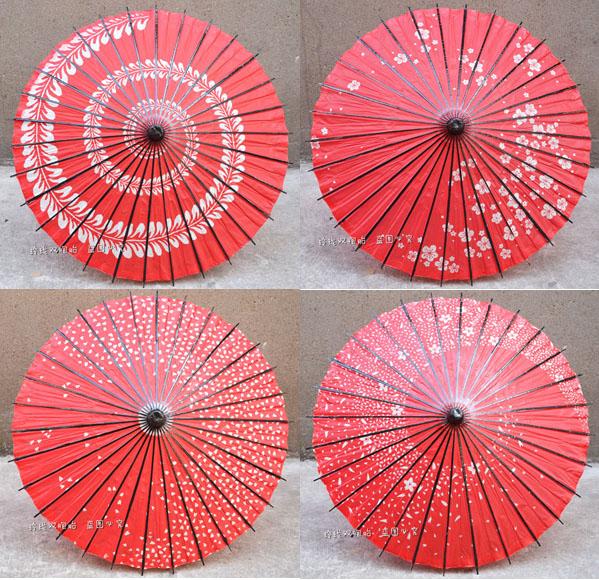 紅色日本櫻花工藝油紙傘/動漫cos傘/中秋國慶餐廳店鋪裝飾裝修傘