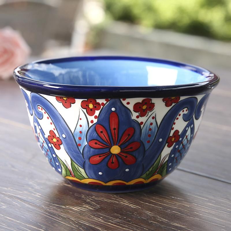 包郵ESPANA西班牙風情手繪陶瓷餐具歐式家居用品彩繪飯碗沙拉碗
