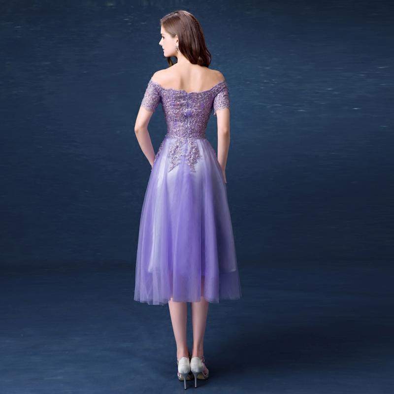 天使嫁衣 气质紫色新娘敬酒服短款宴会年会生日婚纱小礼服批发299