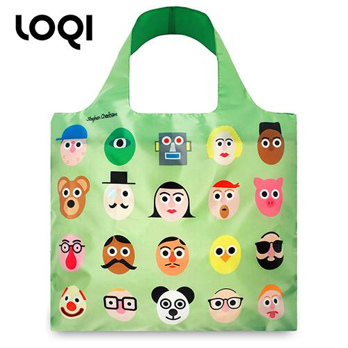 德國LOQI時尚購物袋多功能摺疊便攜包中包大容量環保袋 藝術系列