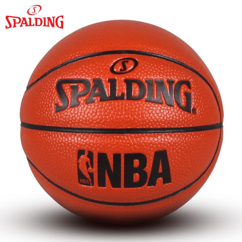 斯伯丁Spalding籃球 桌面擺設小球迷你兒童1號球玩具擺件模型藍球