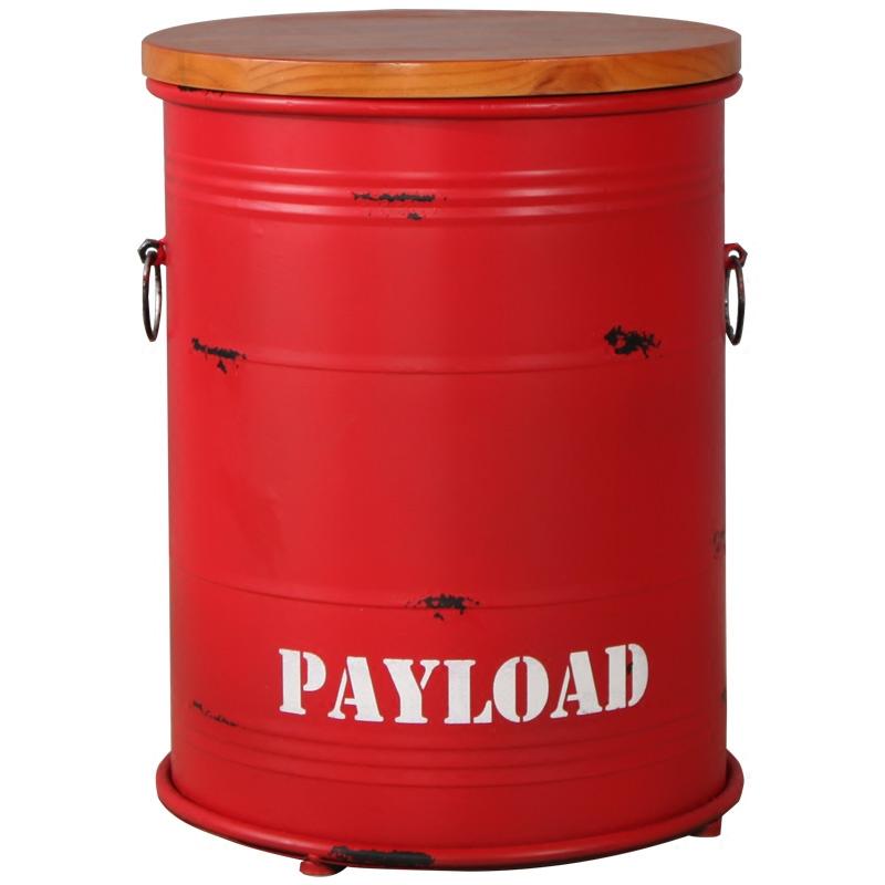 圆形铁皮桶吧凳储物凳子 美式复古酒吧椅油桶凳油漆桶吧台凳
