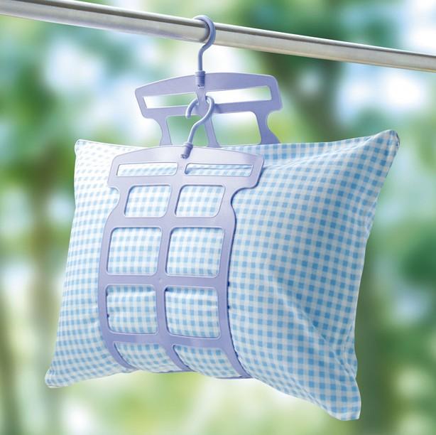 智慧夫人日本晾晒枕頭架晒枕夾枕芯抱枕架多功能地墊毛絨玩具晒架