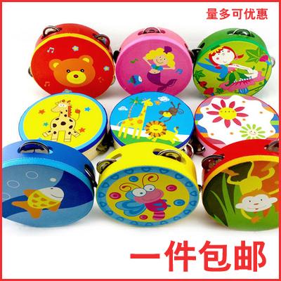 幼儿园儿童舞蹈铃鼓打击乐器手拍鼓手摇铃鼓大小手铃鼓表演手鼓