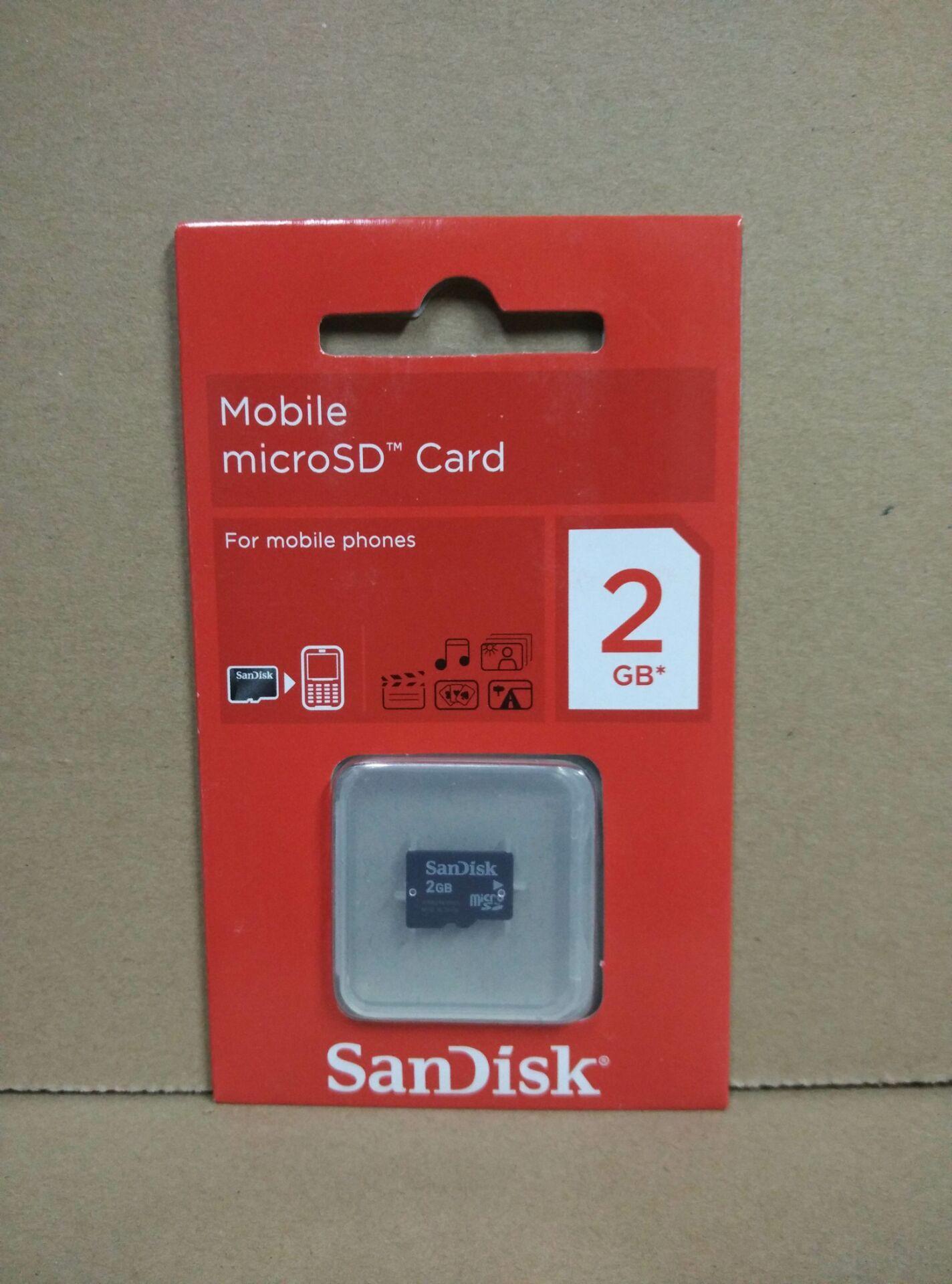 送卡套 sandisk閃迪 tf 2g  micro sd卡 手機記憶體卡 老款相機卡 車載sd卡儲存卡 如意卡 儲存卡非sdhc低速卡
